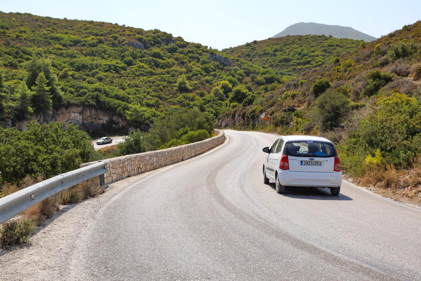 Rijden op Zakynthos